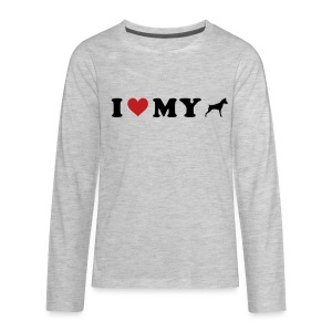 I Heart My Min Pin - Kids' Premium Long Sleeve T-Shirt