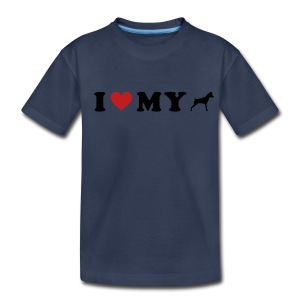 I Heart My Min Pin - Kids' Premium T-Shirt