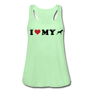 I Heart My Min Pin - Women's Flowy Tank Top by Bella