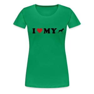 I Heart My Min Pin - Women's Premium T-Shirt
