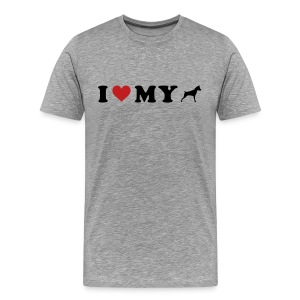 I Heart My Min Pin - Men's Premium T-Shirt