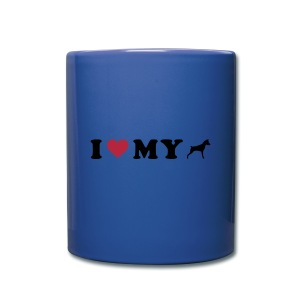 I Heart My Min Pin - Full Color Mug