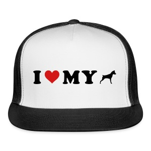 I Heart My Min Pin - Trucker Cap