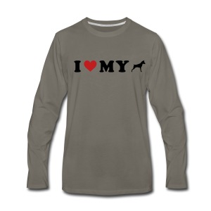 I Heart My Min Pin - Men's Premium Long Sleeve T-Shirt