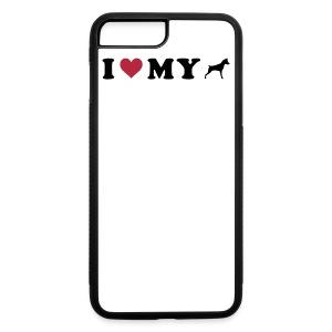 I Heart My Min Pin - iPhone 7 Plus/8 Plus Rubber Case