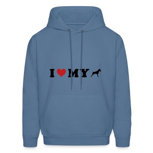 I Heart My Min Pin - Men's Hoodie