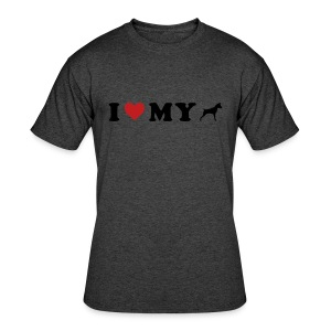 I Heart My Min Pin - Men's 50/50 T-Shirt