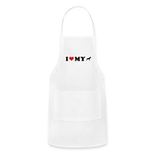 I Heart My Min Pin - Adjustable Apron