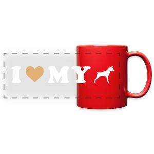 I Heart My Min Pin - Full Color Panoramic Mug