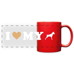 I Heart My Min Pin - Full Color Panoramic Mug