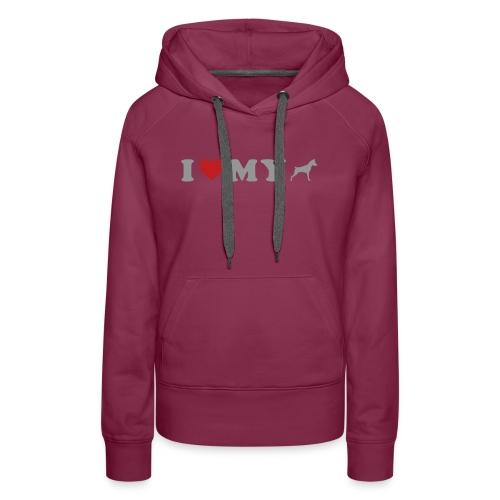 I Heart My Min Pin - Women's Premium Hoodie