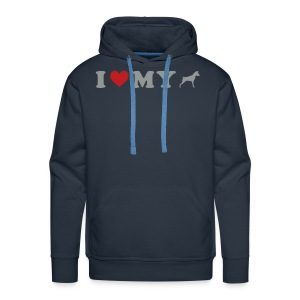 I Heart My Min Pin - Men's Premium Hoodie