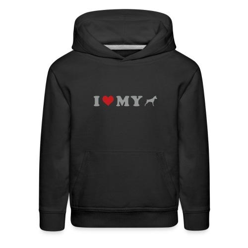 I Heart My Min Pin - Kids' Premium Hoodie