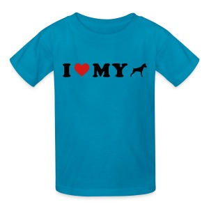 I Heart My Min Pin - Kids' T-Shirt