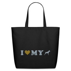 I Heart My Min Pin - Eco-Friendly Cotton Tote