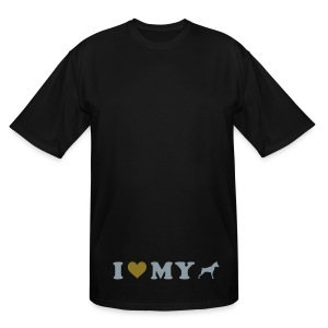 I Heart My Min Pin - Men's Tall T-Shirt