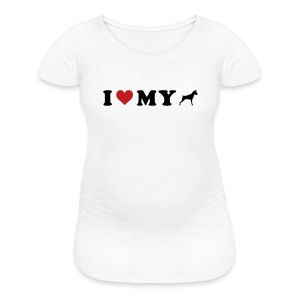 I Heart My Min Pin - Women's Maternity T-Shirt