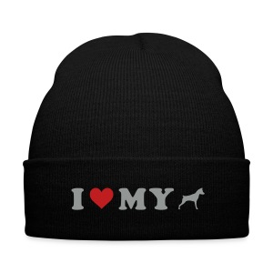 I Heart My Min Pin - Knit Cap with Cuff Print