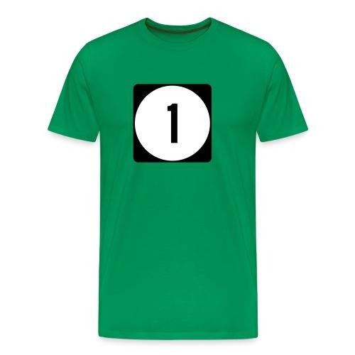 Iowa/Delaware/Mississippi Route 1 Sign T-Shirt - Men's Premium T-Shirt