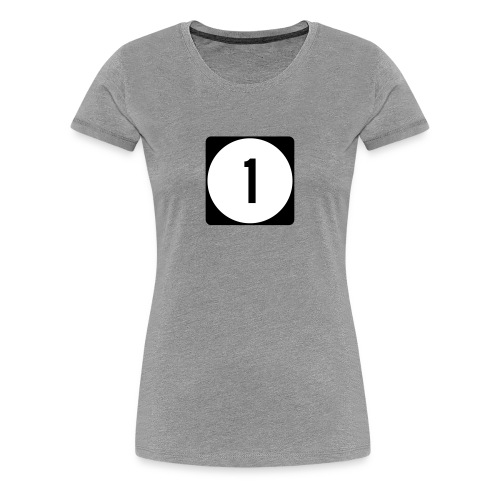 Iowa/Delaware/Mississippi Route 1 Sign Women's T-Shirt - Women's Premium T-Shirt