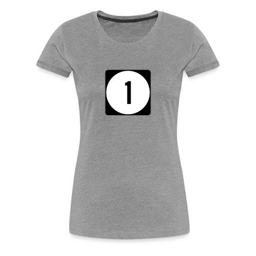 Iowa/Delaware/Mississippi Route 1 Sign Women's T-Shirt - Women's Premium T-Shirt