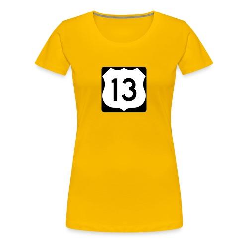 US Route 13 Sign Women's T-Shirt  - Women's Premium T-Shirt