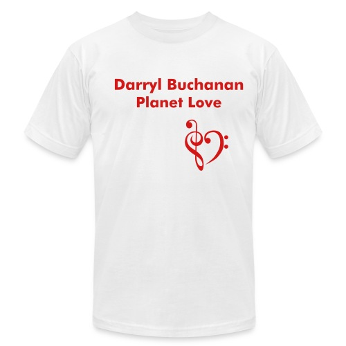 Darryl Buchanan Planet Love - Men's Fine Jersey T-Shirt