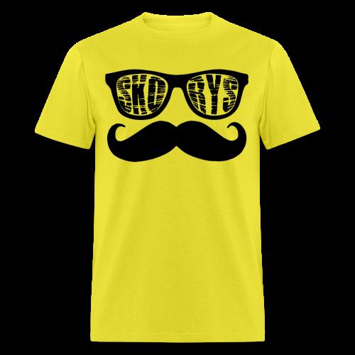 Men's Skorys Nerd Glasses and Mustache T-Shirt - Men's T-Shirt