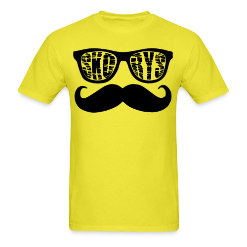 Men's Skorys Nerd Glasses and Mustache T-Shirt - Men's T-Shirt