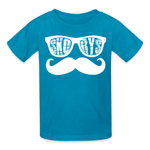 Kids Skorys Nerd Glasses and Mustache T-Shirt - Kids' T-Shirt