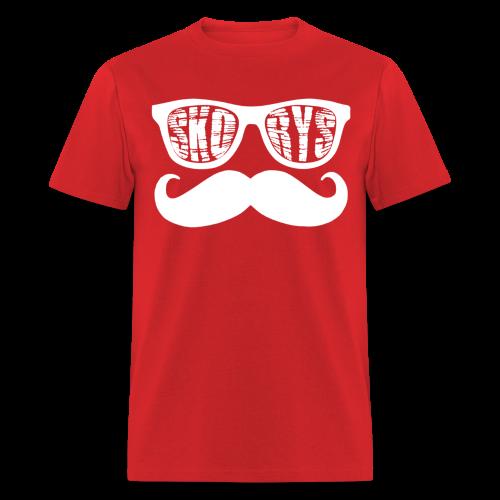 Mens Skorys Nerd Glasses and Mustache T-Shirt - Men's T-Shirt