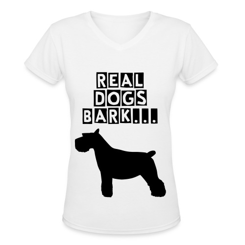 Dogs - Women's V-Neck T-Shirt