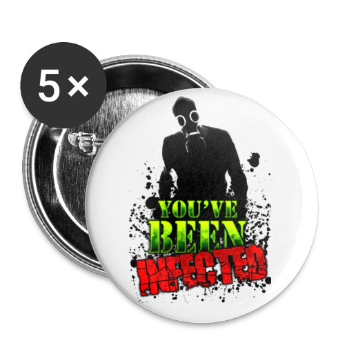 SMALL YOU'VE BEEN INFECTED BUTTON - Small Buttons