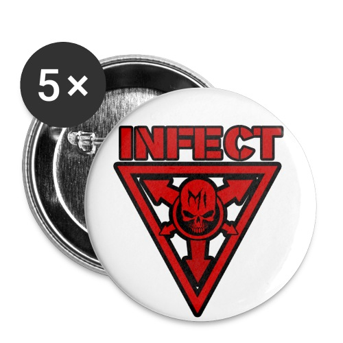 LARGE INFECT MUSIC BUTTON - Large Buttons