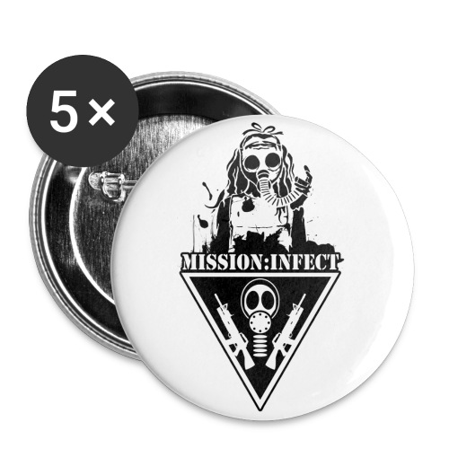 LARGE INFECT HONEYS SOLDIER BUTTON - Large Buttons