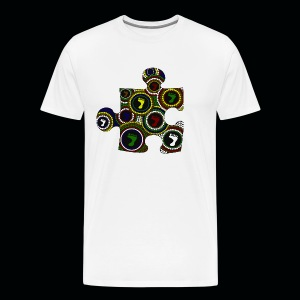 Mens T Dot painting puzzle piece - Men's Premium T-Shirt