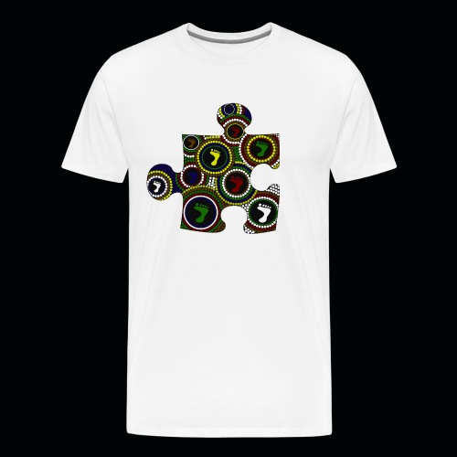 Mens T Dot painting puzzle piece - Men's Premium T-Shirt