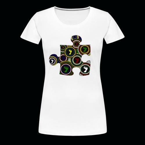 Ladies T Dot painting puzzle piece - Women's Premium T-Shirt