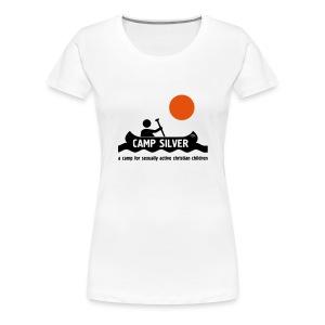 Official CAMP FOR SEXUALLY ACTIVE CHRISTIAN CHILDREN T-shirt - women - Women's Premium T-Shirt