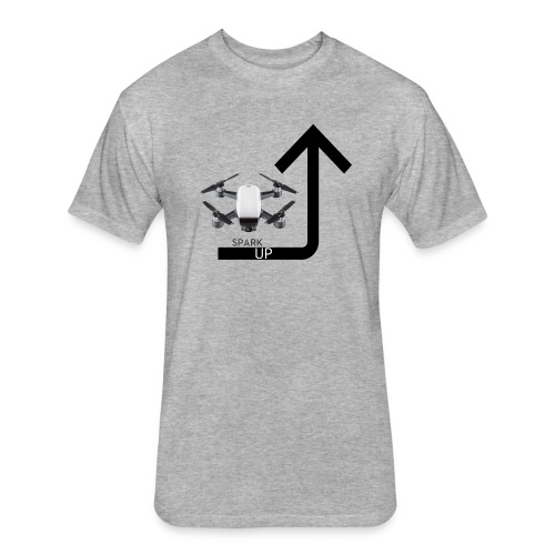 Spark Up - Fitted Cotton/Poly T-Shirt by Next Level