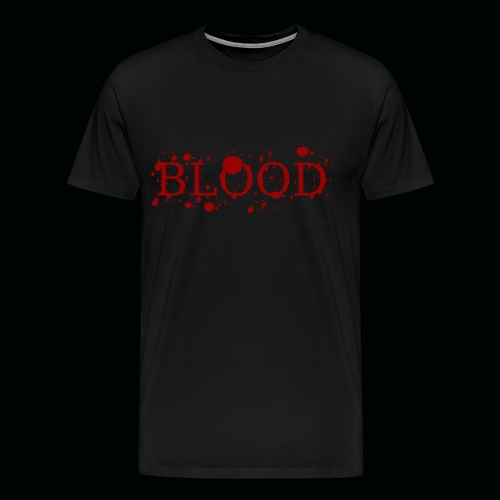 Mens Splattered Blood  - Men's Premium T-Shirt