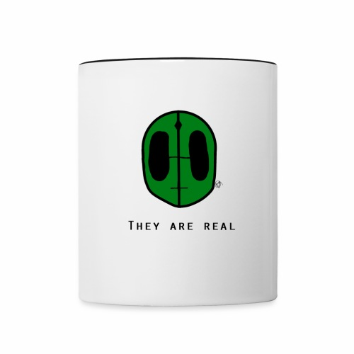 They Are Real Cups - Contrast Coffee Mug