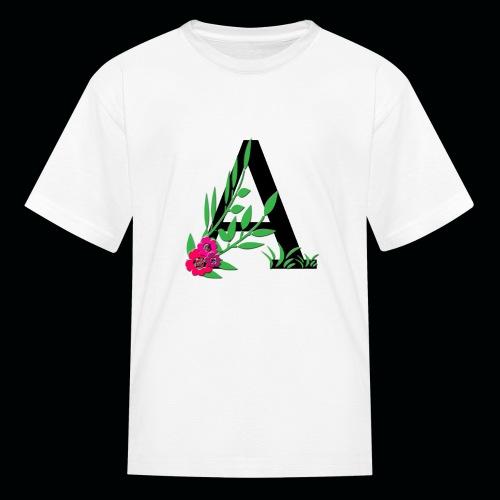 Kids T Floral lettering - Kids' T-Shirt