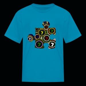 Kids T Dot painting puzzle piece - Kids' T-Shirt