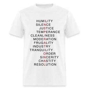 Benjamin Franklin's Virtues 3 - Men's T-Shirt