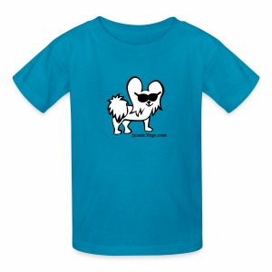 Kids Jeanie the 3-Legged Dog (white graphic) - Kids' T-Shirt