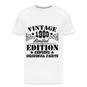 VINTAGE 1989 LIMITED EDITION GENUINE ORIGINAL PARTS, VINTAGE, CLASSIC, ORIGINAL PARTS, GENUINE, LIMITED EDITION, LIMITED, 1989 - Men's Premium T-Shirt