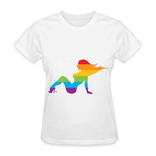 Rainbow Mudflap Girl - Women's T-Shirt