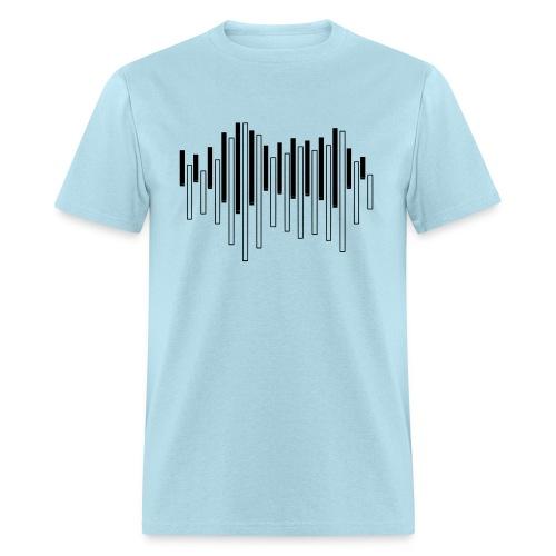 Piano Sound Wave - Men's T-Shirt