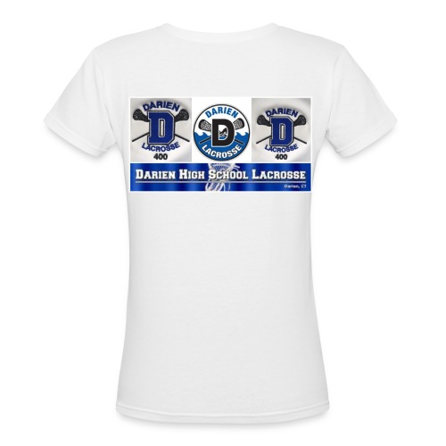 darien high school girls lax - Women's V-Neck T-Shirt